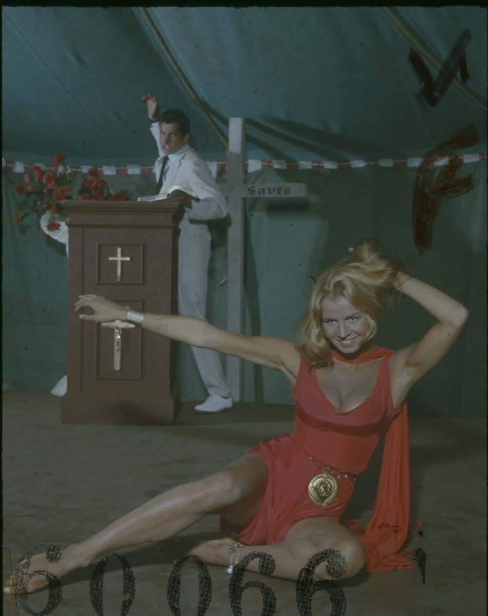 "Salome Jens Performing As Delilah The Temptress In The Illustrated Sermon Scene Film ""Angel Baby"""