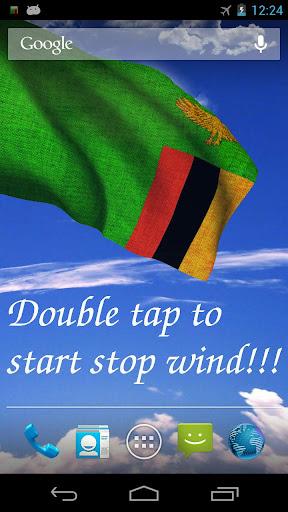 3D Zambia Flag Live Wallpaper