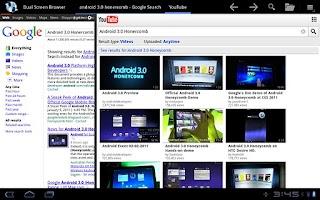 Screenshot of Dual Screen Browser
