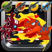 Red Rangers Robot VS Dinosaurs