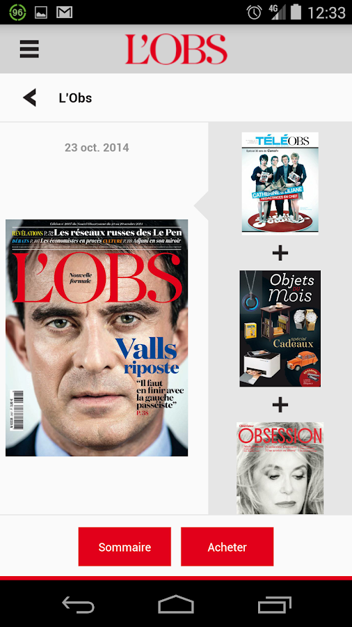 L'Obs - le magazine- screenshot