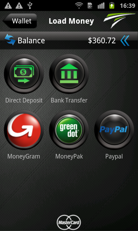 TransCard mobile wallet- screenshot