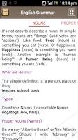 Screenshot of English Grammar Book Add Free