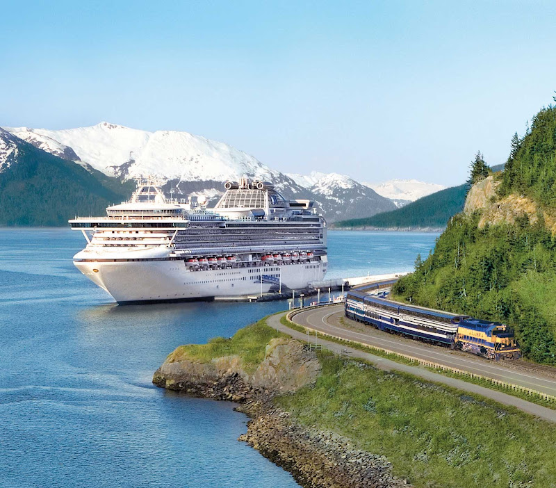Wanna race? Princess Cruises allows you to enjoy even more of Alaska by offering its Direct to the Wilderness Rail Service for fast travel.
