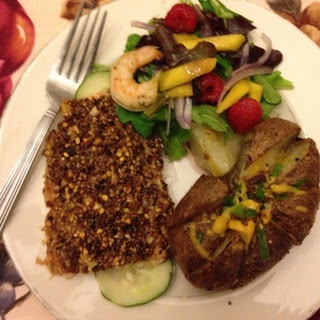 Sesame-Crusted Salmon with Ginger Vinaigrette