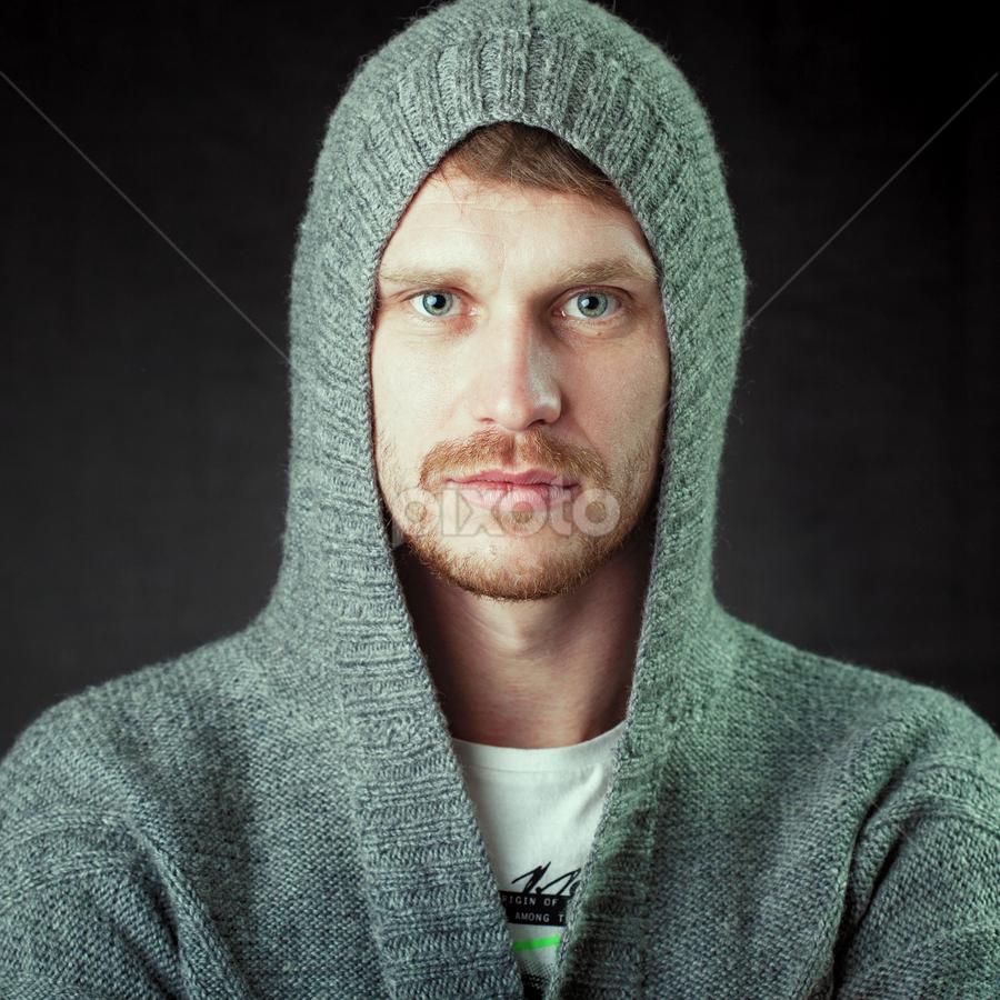 Gintaras by Mindaugas Navickas - People Portraits of Men ( studio, 1x1, mindaugas navickas, ayes, men, portrait )
