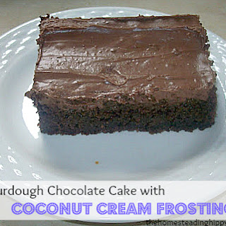 Sourdough Chocolate Cake With Coconut Cream Frosting.
