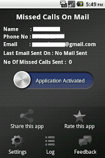 Missed Call On Your Mail - screenshot thumbnail