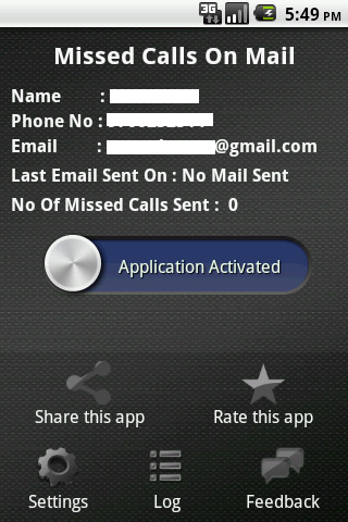 Missed Call On Your Mail - screenshot