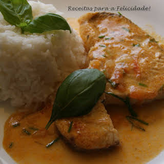 Dogfish in Coconut Milk with White Rice.