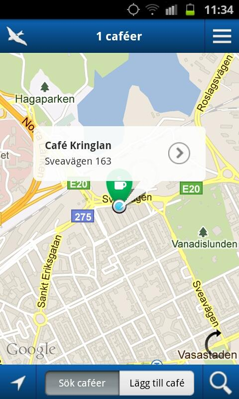 Cafétipsaren - screenshot