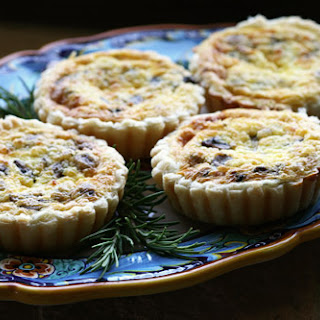 Caramelized Onion, Pancetta & Gorgonzola Mini Quiche