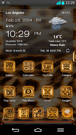 Next Launcher 3D Theme Leopard