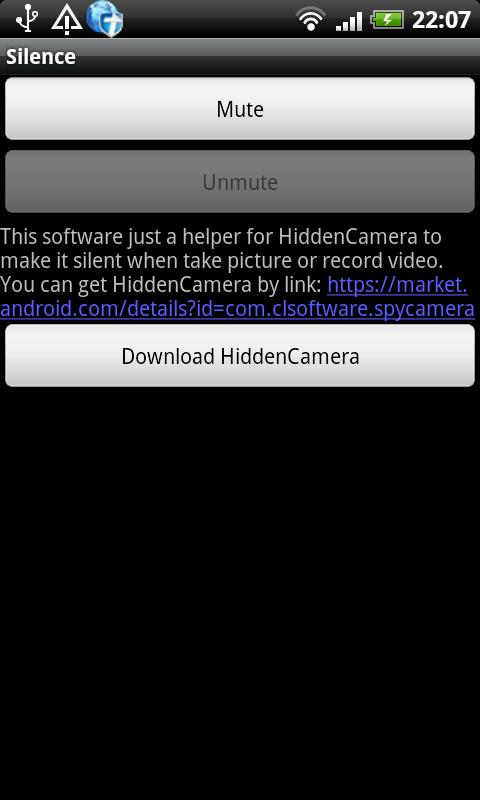 Silent Camera Mute Camera- screenshot