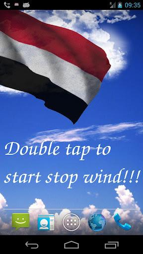 3D Yemen Flag Live Wallpaper
