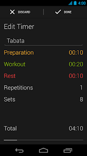 Runtastic Workout Timer App- screenshot thumbnail