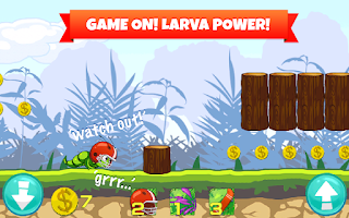 Screenshot of Crazy Larva Run