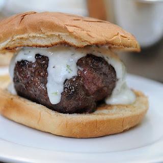 Lamb Burgers with Cilantro Yogurt