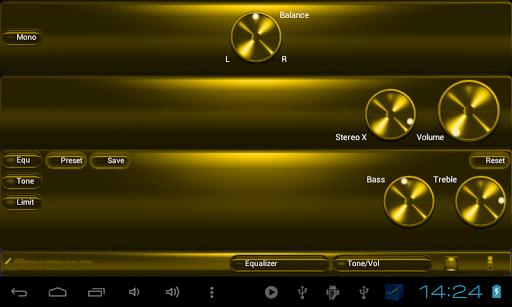 玩音樂App|Poweramp skin 黄色金属免費|APP試玩