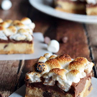 Peanut Butter & Cookie Dough S'mores Bars