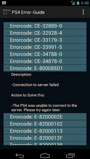 PS4 Error Guide