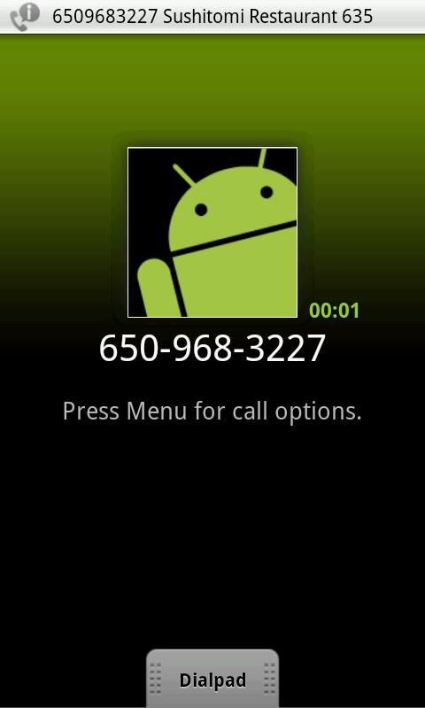Call? Search and Confirm - screenshot