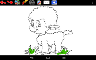 Screenshot of Easter Coloring Book