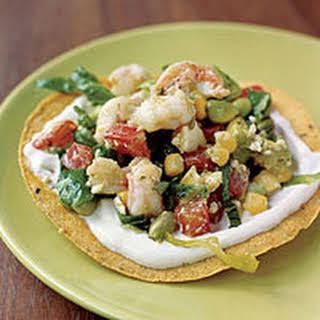 Shrimp-Avocado Tostadas.