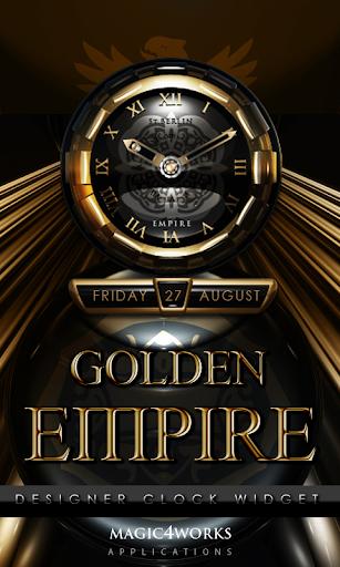 Golden Empire Clock Widget