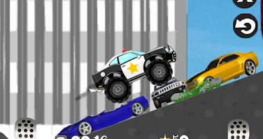 Screenshot of Mad smash cop - hill racer