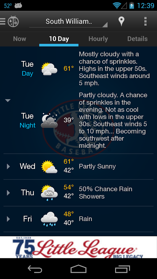 Little League WeatherBug- screenshot