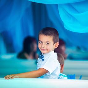 Cute boy portrait by Stoyan Katinov - Babies & Children Child Portraits ( beautiful, children, cute, katinov, kids portrait, portrait, kid, child, glamour, cute baby, blue, boys, portraits, boy )