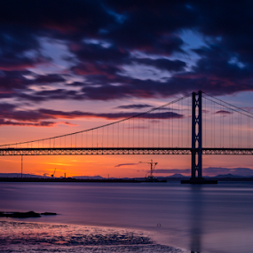 Forth Road Bridge at Sunset by Philip Cormack - Buildings & Architecture Bridges & Suspended Structures