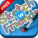 Sketch W Friends FREE -Tablets logo