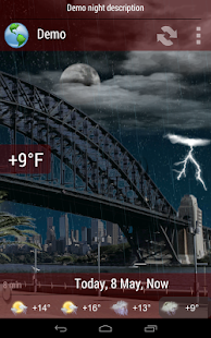 Animated Weather Widget, Clock - screenshot thumbnail