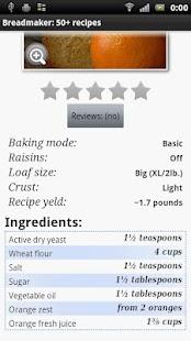 玩免費書籍APP|下載Breadmaker: 50+ recipes app不用錢|硬是要APP