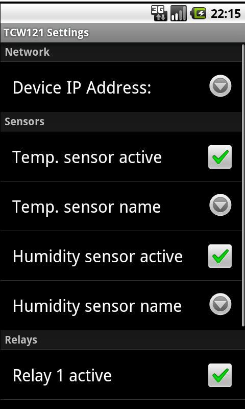TCW121 Remote control- screenshot