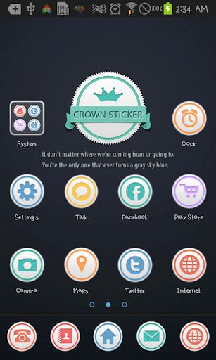 CrownSticker go launcher theme