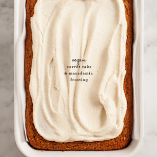 Vegan Carrot Cake (& Frosting)