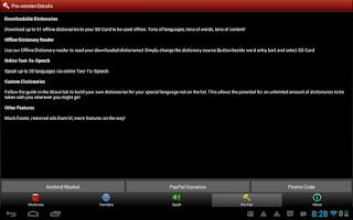Screenshot of A+ Dictionary Translate Speak
