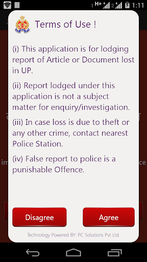 UPP Lost Report App
