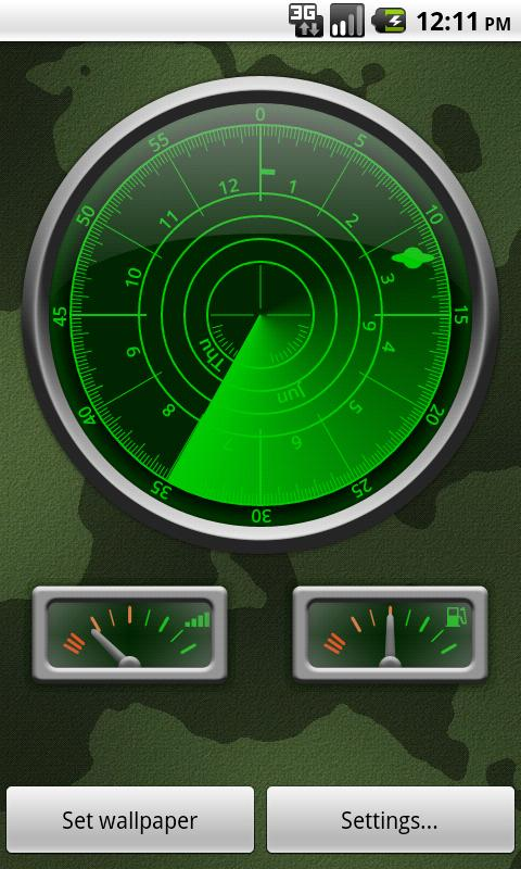 radar clock live wallpaper android apps on google play