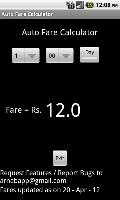 Mumbai Auto Fare Calculator - screenshot