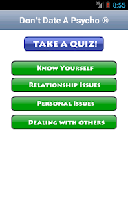 psycho quiz Do people call you crazy do you always do things that normal people would never do take this quiz to find out how psycho you are.