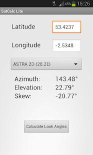 SatCalc Free Satellite Finder - screenshot thumbnail