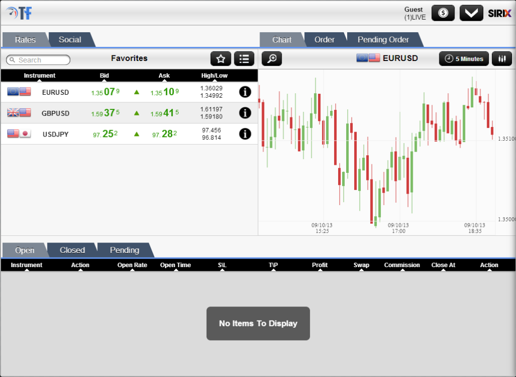 TurboForex Mobile Trader- screenshot