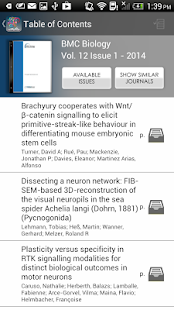 BrowZine- screenshot thumbnail