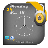 Screen Lock Analog Clock