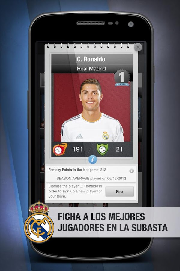 Real Madrid FantasyManager '14: captura de pantalla