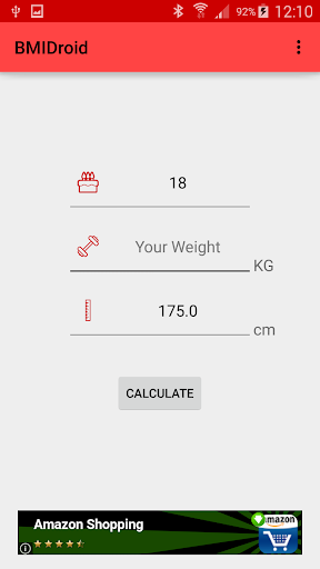 BMIDroid BMI BMR Calculator